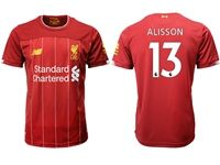 Mens 19-20 Soccer Liverpool Club #13 Alisson Red Home Jersey