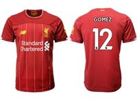 Mens 19-20 Soccer Liverpool Club #12 Joe Gomez Red Home Jersey