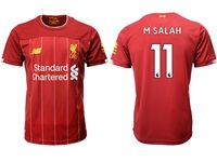 Mens 19-20 Soccer Liverpool Club #11 Mohamed Salah Red Home Jersey