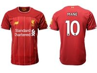 Mens 19-20 Soccer Liverpool Club #10 Sadio Mane Red Home Jersey