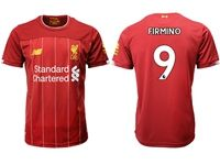 Mens 19-20 Soccer Liverpool Club #9 Roberto Firmino Red Home Jersey