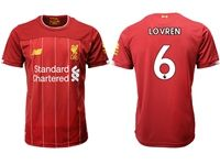 Mens 19-20 Soccer Liverpool Club #6 Dejan Lovren Red Home Jersey
