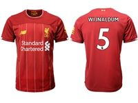 Mens 19-20 Soccer Liverpool Club #5 Georginio Wijnaldum Red Home Jersey