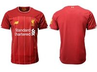 Mens 19-20 Soccer Liverpool Club Blank Red Home Jersey
