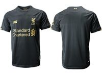 Mens 19-20 Soccer Liverpool Club Blank Black Jersey