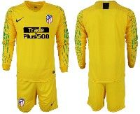 Youth Soccer 19-20 Colombia National Team Custom Made Yellow  Goalkeeper Long Sleeve Suit Jersey