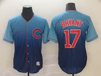 Mens Majestic Mlb Chicago Cubs #17 Kris Bryant Blue Nike Drift Cool Base Jersey