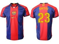 Mens 19-20 Soccer Barcelona Club #23 Samuel Umtiti Red And Blue Stripe Home Thailand Jersey