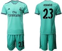 Mens 19-20 Soccer Real Madrid Club #23 Mateo Kovacic Green Short Sleeve Suit Jersey