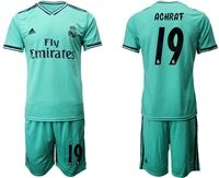 Mens 19-20 Soccer Real Madrid Club #19 Achrat Green Short Sleeve Suit Jersey