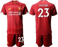 Mens 19-20 Soccer Liverpool Club #23 Xherdan Shaqiri Red Home Short Sleeve Suit Jersey