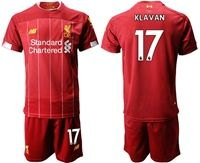 Mens 19-20 Soccer Liverpool Club #17 Ragnar Klavan Red Home Short Sleeve Suit Jersey