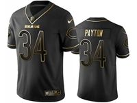 Mens Nfl Chicago Bears #34 Walter Payton Black Golden Edition Vapor Untouchable Limited Jersey