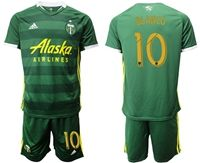 Mens 19-20 Soccer Portland Timbers Club #10 Sebastian Blanco Green Short Sleeve Suit Adidas Jersey