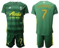 Mens 19-20 Soccer Portland Timbers Club #7 Bfernandez Green Short Sleeve Suit Adidas Jersey