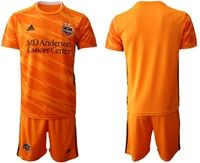 Mens 19-20 Soccer Houston Dynamo Club Blank Orange Home Short Sleeve Suit Jersey