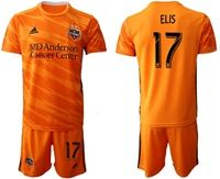 Mens 19-20 Soccer Houston Dynamo Club #17 Elis Orange Home Short Sleeve Suit Jersey