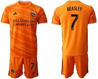 Mens 19-20 Soccer Houston Dynamo Club #7 Beasley Orange Home Short Sleeve Suit Jersey