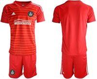 Mens 19-20 Soccer Atlanta United Club (custom Made) Red Away Short Sleeve Suit Jersey