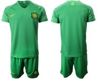 Mens 19-20 Soccer Club Beijing Sinobo Guoan Blank Green Home Short Sleeve Suit Jersey