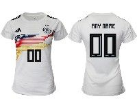 Women 19-20 Soccer Germany Ntaional Team ( Custom Made ) Adidas White Home Short Sleeve Jersey