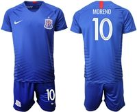 Mens 19-20 Soccer Club Shanghai Greenland Shenhua Fc #10 Moreno Blue Home Short Sleeve Suit Jersey