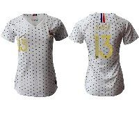 Women 19-20 Soccer France National Team #13 N'golo Kante White Away Short Sleeve Jersey