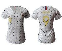 Women 19-20 Soccer France National Team #9 Olivier Giroud White Away Short Sleeve Jersey