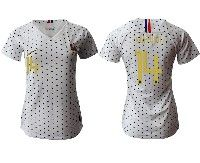 Women 19-20 Soccer France National Team #14 Blaise Matuidi White Away Short Sleeve Jersey