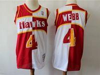 Mens Nba Atlanta Hawks #4 Webb Red And White Mitchell&ness 1986-87 Hardwood Classics Swingman Jersey