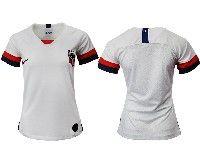 Women 19-20 Soccer Usa National Team Blank White Home Short Sleeve Thailand Jersey