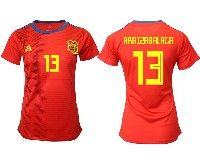 Women 19-20 Soccer Spain National Team #13 Kepa Arrizabalaga Red Home Adidas Short Sleeve Jersey