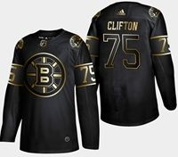 Mens Nhl Boston Bruins #75 Clifton 2019 Champion Black Golden Adidas Jersey