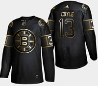 Mens Nhl Boston Bruins #13 Coyle 2019 Champion Black Golden Adidas Jersey