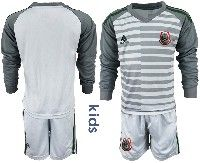 Youth Soccer 19-20 Mexico National Team Custom Made Gray Goalkeeper Long Sleeve Suit Jersey