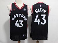 Mens Nba Toronto Raptors #43 Siakam Black Nike Swingman Jersey