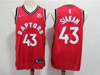 Mens Nba Toronto Raptors #43 Siakam Red Nike Swingman Jersey