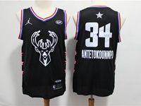 Mens 2019 Nba Milwaukee Bucks #34 Giannis Antetokounmpo Black All Star Jersey