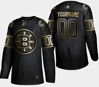 Mens Adidas Nhl Boston Bruins 2019 Champion Black Golden Custom Made Jersey