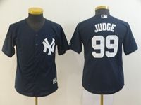 Youth Mlb New York Yankees #99 Aaron Judge Navy Cool Base Jersey