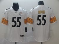 Mens Nfl Pittsburgh Steelers #55 Devin Bush White Vapor Untouchable Limited Player Jersey