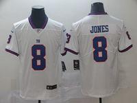 Mens Nfl New York Giants #8 Daniel Jones White Vapor Untouchable Color Rush Limited Player Jersey