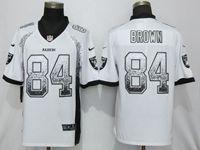 Mens Nfl Oakland Raiders #84 Antonio Brown White Vapor Untouchable Drift Fashion Elite Jersey