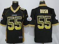 Mens Nfl Pittsburgh Steelers #55 Devin Bush Black Drift Fashion Vapor Untouchable Elite Jersey