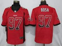 Mens Nfl San Francisco 49ers #97 Nick Bosa Red Drift Fashion Vapor Untouchable Elite Jersey