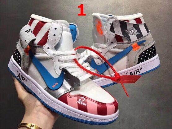 Mens And Women Off White For Nike Air Jordan 1 Aj1 Oregon Usa Basketball Shoes 4 Colours