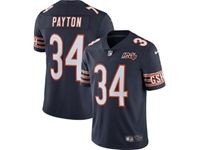 Mens Nfl Chicago Bears #34 Walter Payton Navy Blue 100th Season Nike Vapor Untouchable Limited Jersey