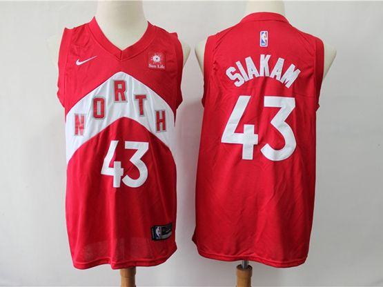 Mens 2018-19 Nba Toronto Raptors #43 Siakam Red Playoff Award Edition Nike Swingman Jersey