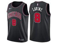 Mens Nba Chicago Bulls #8 Zach Lavine Bulls Black Nike Swingman Statement Jersey