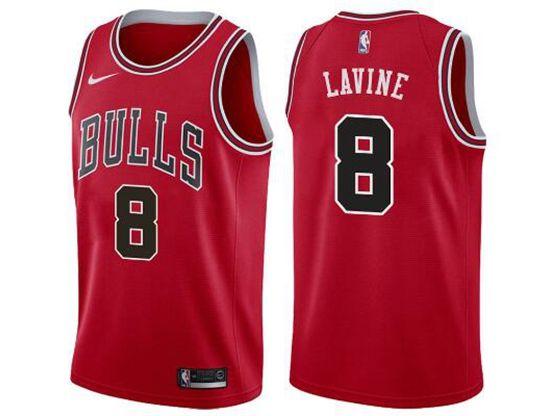Mens Nba Chicago Bulls #8 Zach Lavine Bulls Red Nike Swingman Statement Jersey